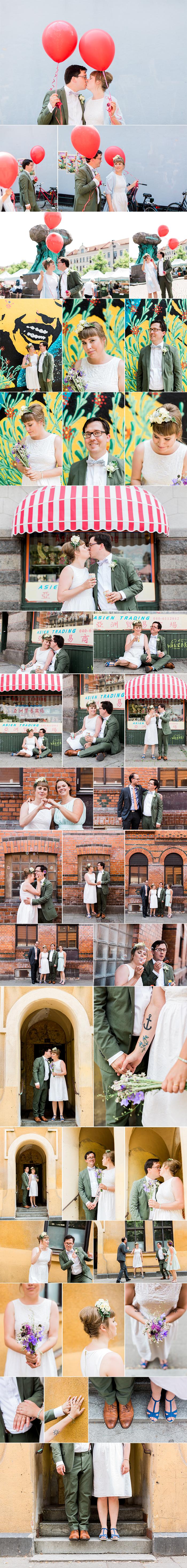 Camill och Nils, 4:e juli 2015, Möllan, Möllevångstorget, Malmö. Bröllopsfotograf Sanna Dolck.