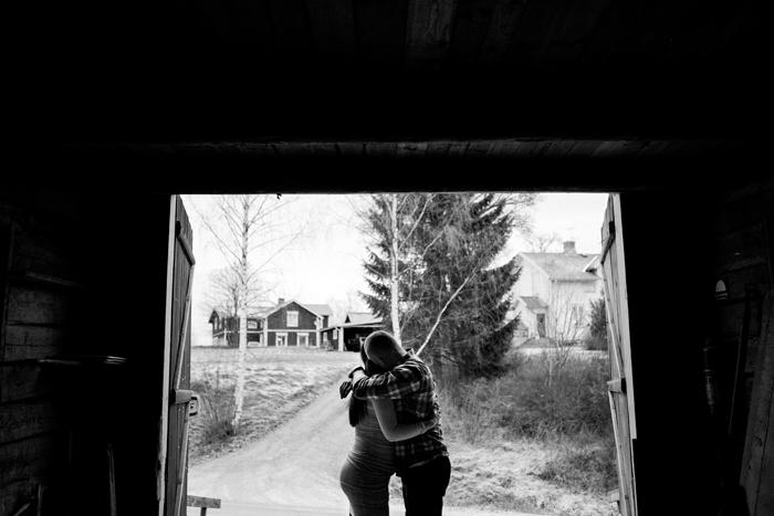 Gravidfotografering, Jonas och Matilda, Sunnansjö, Bollnäs. 30/12-15. Foto: Sanna Dolck